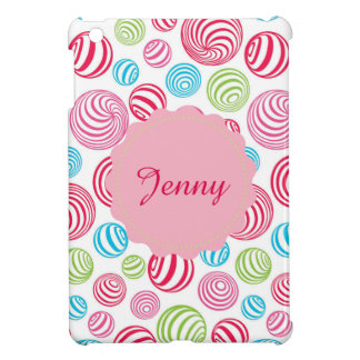 Funny Striped Candies in pastel colors iPad Mini Case