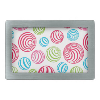 Funny Striped Christmas Candies in pastel colors Rectangular Belt Buckle