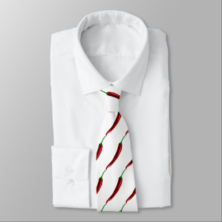 Funny striped hot chili peppers tie
