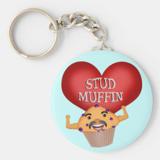 Funny Stud Muffin Men's Keychain