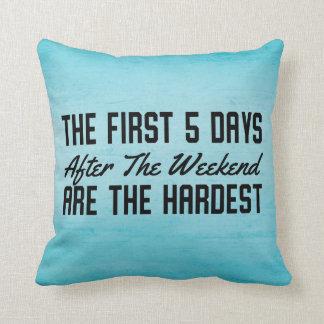 Funny Studen Dorm Office Throw Pillow