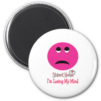 Funny Student Nurse Smiley Face Gifts 2 Inch Round Magnet