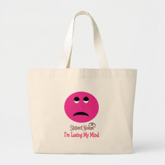 Funny Student Nurse Smiley Face Gifts Tote Bags
