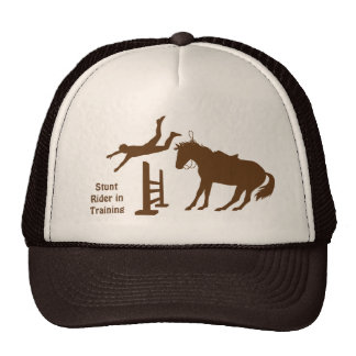 Funny Stunt Horse Rider In Training Trucker Hat