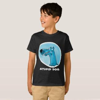 funny stupid dog cartoon customizable T-Shirt