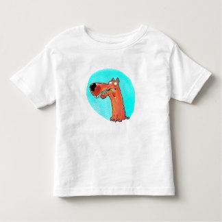 funny stupid dog cartoon toddler t-shirt
