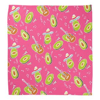 Funny summer modern avocado cartoon illustration bandana