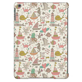 Funny Summer Pattern With Ships iPad Air Covers