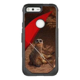Funny Sun Smart Meerkat Under Umbrella, OtterBox Commuter Google Pixel Case