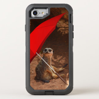 Funny Sun Smart Meerkat Under Umbrella, OtterBox Defender iPhone 8/7 Case