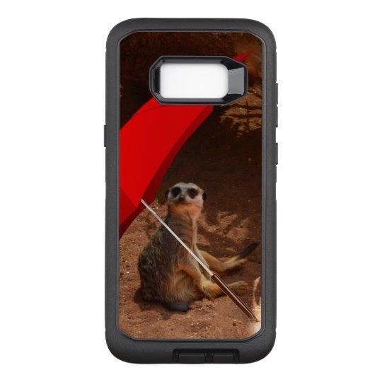 Funny Sun Smart Meerkat Under Umbrella, OtterBox Defender Samsung Galaxy S8+ Case