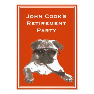 Funny Sunglasses Pug Retirement Party Invitation