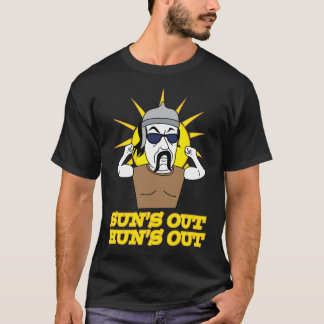Funny Sun's Out Hun's Out Attila the Hun T-Shirt