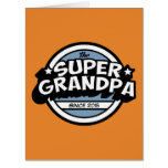 Funny Super Grandpa Big Greeting Card