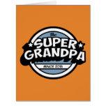 Funny Super Grandpa Big Greeting Card