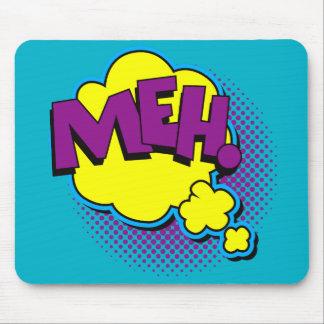 Funny Superhero comic word, Meh. Mousemats