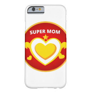 Funny Superhero Flash Mom emblem Barely There iPhone 6 Case