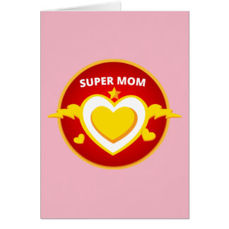 Funny Superhero Flash Mom emblem Card