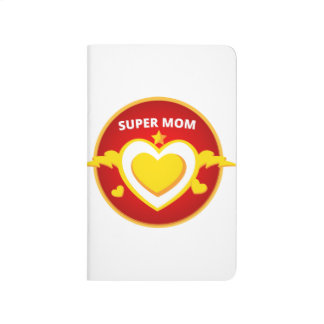 Funny Superhero Flash Mom emblem Journal