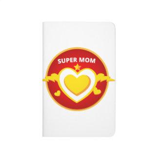 Funny Superhero Flash Mom emblem Journals