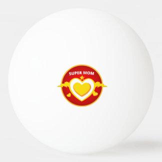 Funny Superhero Flash Mom emblem Ping Pong Ball