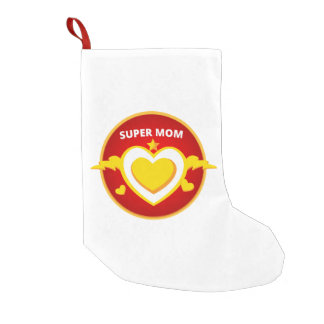 Funny Superhero Flash Mom emblem Small Christmas Stocking