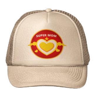 Funny Superhero Flash Mom emblem Trucker Hat