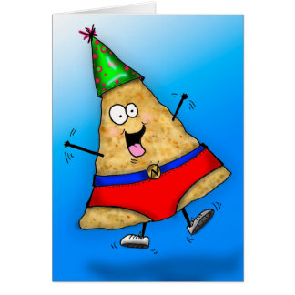 "Funny Superhero ""nacho man"" Birthday Card"