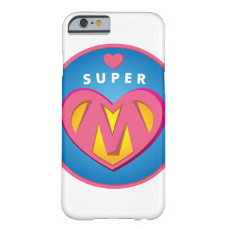 Funny Superhero Superwoman Mom emblem Barely There iPhone 6 Case