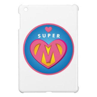 Funny Superhero Superwoman Mom emblem iPad Mini Case