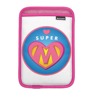 Funny Superhero Superwoman Mom emblem iPad Mini Sleeve