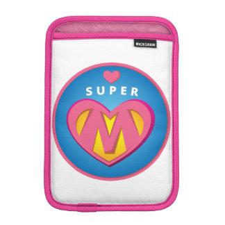 Funny Superhero Superwoman Mom emblem iPad Mini Sleeves