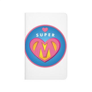 Funny Superhero Superwoman Mom emblem Journal