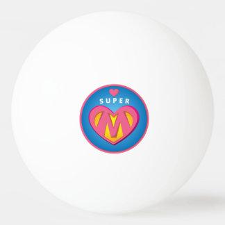 Funny Superhero Superwoman Mom emblem Ping-Pong Ball