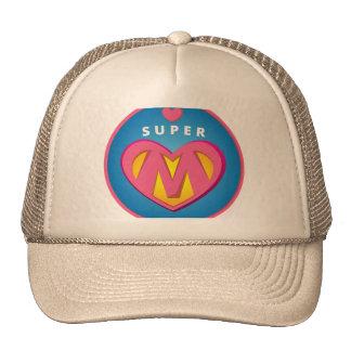 Funny Superhero Superwoman Mom emblem Trucker Hat