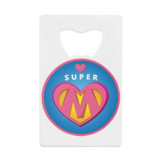 Funny Superhero Superwoman Mom emblem Wallet Bottle Opener