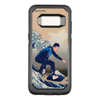 Funny Surfer Surfing On The Hokusai Great Wave OtterBox Commuter Samsung Galaxy S8 Case