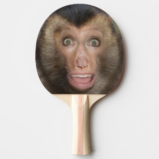 Funny Surprised Monkey Face Ping Pong Paddle