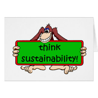 funny sustainability greeting card