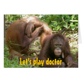 Funny Sweethearts Let's Play Doctor Note Card
