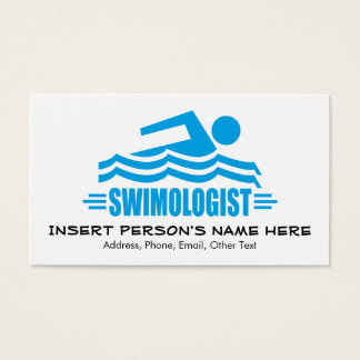 Funny Swimming Business Card
