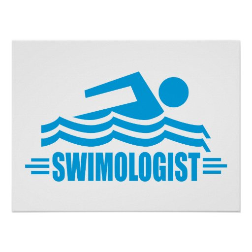 Funny Swimming Poster