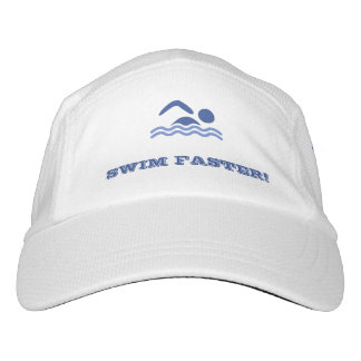 Funny swimming quote custom text hat
