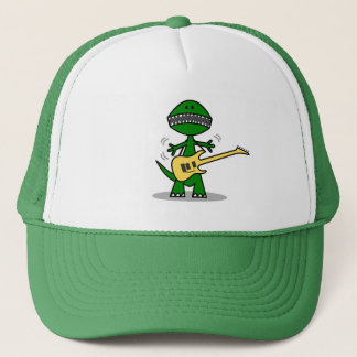 Funny T-Rex Can't Find a Gig Guitar Music Trucker Hat