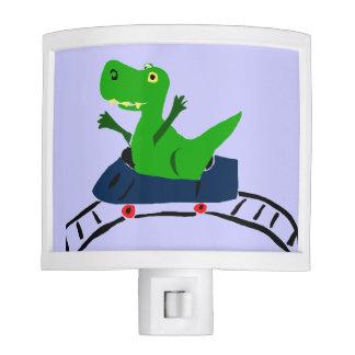 Funny T-rex Dinosaur on Roller Coaster Nightlight Night Light
