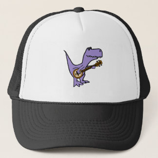 Funny T-rex Dinosaur Playing Banjo Trucker Hat