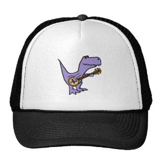 Funny T-rex Dinosaur Playing Banjo Trucker Hat