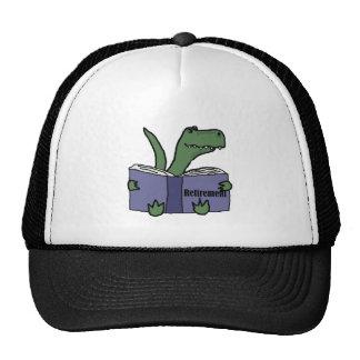 Funny T-rex Dinosaur Reading Retirement Book Trucker Hat