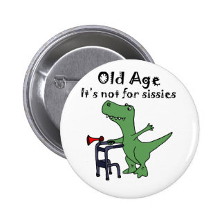 Funny T-rex Dinosaur Using Walker 2 Inch Round Button