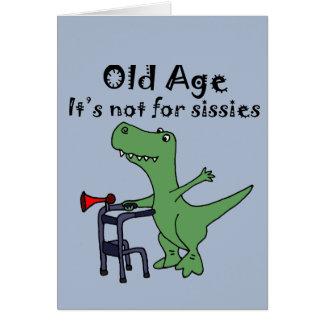 Funny T-rex Dinosaur Using Walker Card